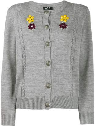 A.P.C. embroidered cardigan