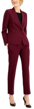 Le Suit Petite Stretch Crepe Pantsuit