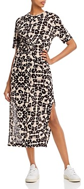 Rebecca Taylor Kaleidoscope Leopard Print Jersey Dress