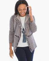 Chico's Textured Fringe Lucy Cardigan