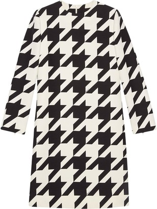 Gucci Houndstooth-Print Dress