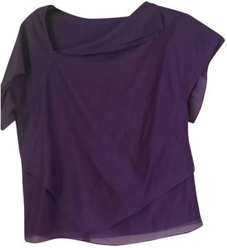 Armani Jeans Purple Cotton Top for Women