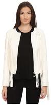 Philipp Plein Fringe Tribute Leather Jacket