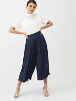 Ted Baker Olloh Front Pleated Culotte - Navy