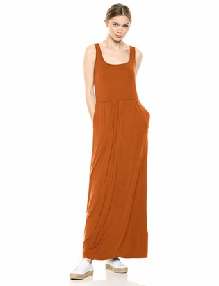 Daily Ritual Amazon Brand Women's Jersey Sleeveless Empire-Waist Maxi Dress