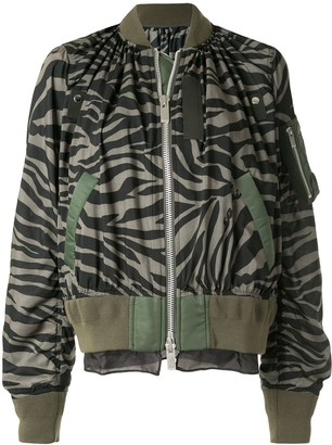 Sacai Zebra Print Bomber Jacket