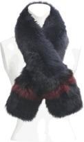 Yves Salomon Two-tone fox fur scarf