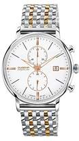 Dugena Men's Premium Quartz Watch with White Dial Chronograph Display and Multi-Colour Stainless Steel Bracelet