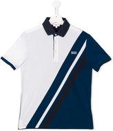 Boss Kids - colour block polo shirt - kids - Cotton/Spandex/Elastane - 14 yrs