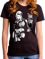 Goodie Two Sleeves Black David Bowie Rock God Tee - Juniors