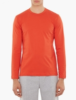 Comme Des Garcons Shirt Orange Long-sleeved T-shirt