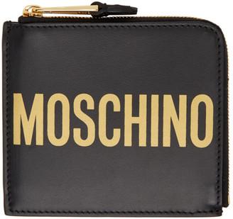 Moschino Black Zip Wallet