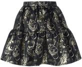 Kenzo Visage mini skirt - women - Polyester/Metallized Polyester - 34