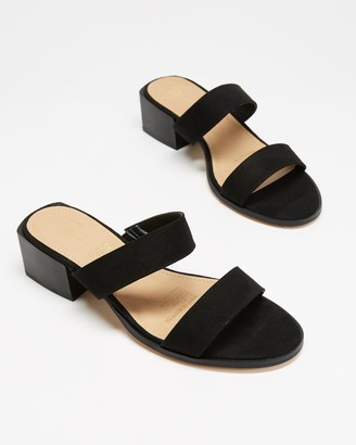 Spurr Women's Black Mid-low heels - Lucie Wide Comfort Heels - Size 5 at The Iconic