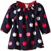 Hatley Nordic Apples Smocked Neck Dress (Infant)