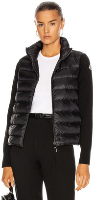 Moncler Cardigan Tricot Jacket in Black | FWRD