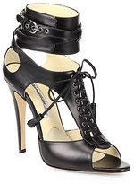 Brian Atwood Alyssa Lace-Up Sandals