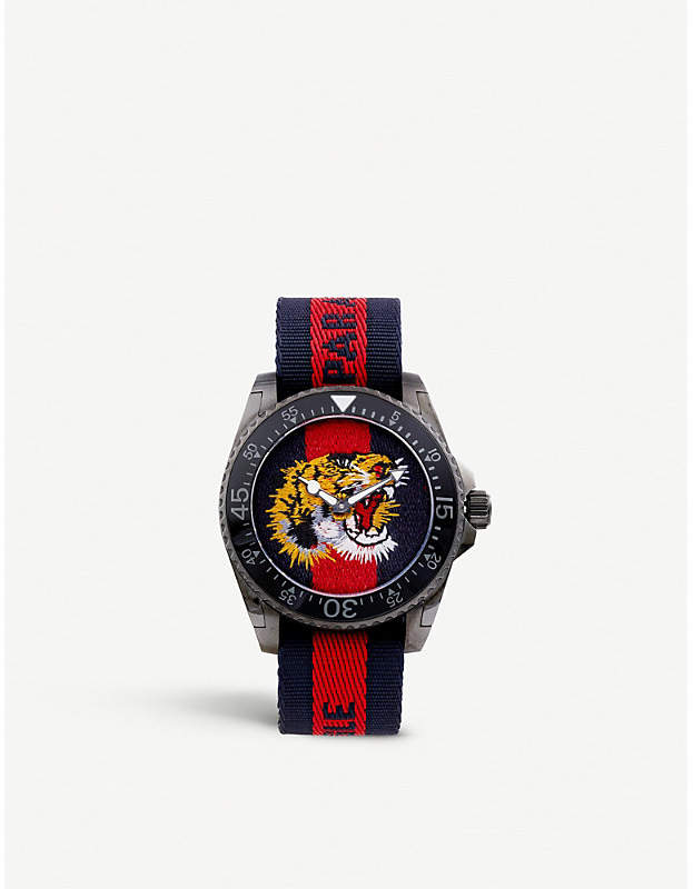 Gucci YA136215 Dive stainless steel and nylon watch