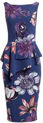Chiara Boni Hannika Floral Peplum Dress