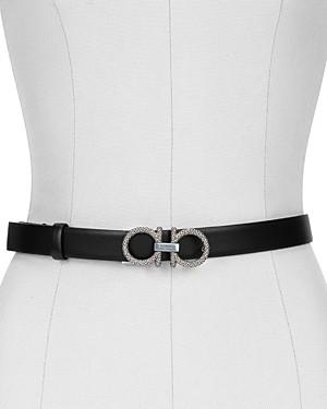 Salvatore Ferragamo Women's New Gancini Leather Belt