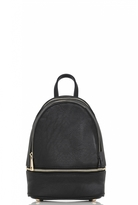 Quiz Black Zip Detail Backpack