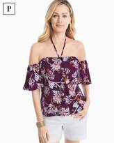 White House Black Market Petite Off-the-Shoulder Floral Printed Top