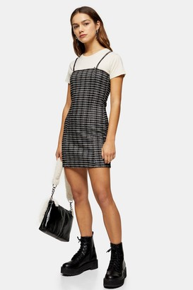 Topshop PETITE Black and White Strappy Pinafore Dress