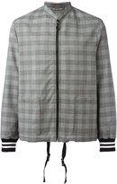 Lanvin checked bomber jacket - men - Cotton/Polyamide/Polyester/Wool - 48