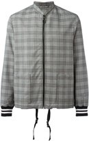 Lanvin checked bomber jacket