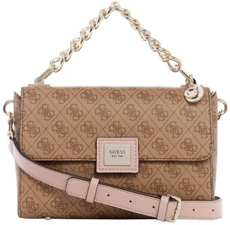 GUESS SG766818BRM Candace Flap Over Crossbody Bag
