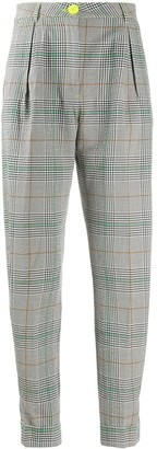 Essentiel Antwerp Checked Tapered Leg Trousers