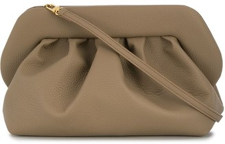 Themoirè Gathered-Detail Clutch Bag