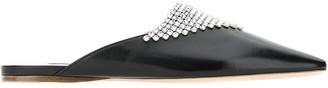 Miu Miu Rhinestone Embellished Slippers