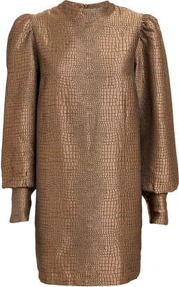 Andamane Baylee Lizard Jacquard Mini Dress