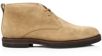 Tod's Polacco Suede Chukka Boots