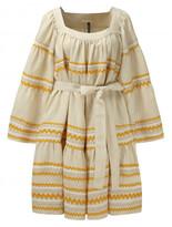 Lisa Marie Fernandez Natural ric rac linen peasant dress