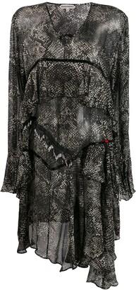 Giacobino Snake Print Dress