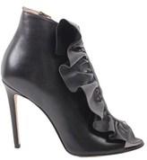 Elisabetta Franchi Women's Black Leather Sandals.