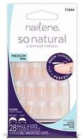Nailene So Natural Ultra Flex Pink French Medium Nails