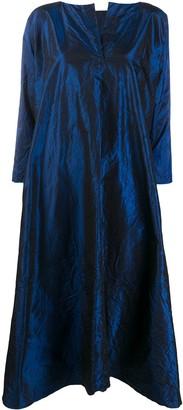Daniela Gregis Metallic Silk Smock Dress