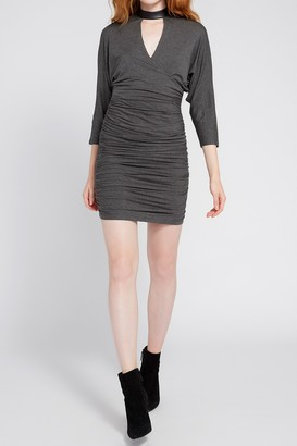 Alice + Olivia Pace Mink Batwing Drapey Dress