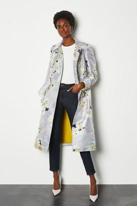 Karen Millen Watercolour Belted Trench Coat