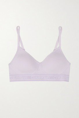 Calvin Klein Underwear Stretch-cotton Soft-cup Triangle Bra - Purple