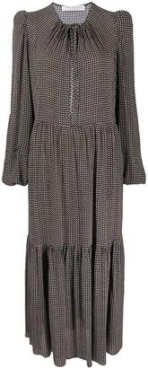 Philosophy di Lorenzo Serafini Polka-Dot Tiered Dress