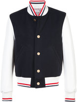 Thom Browne contrast bomber jacket