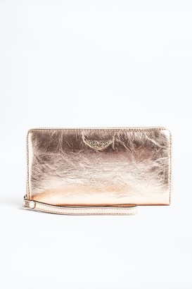Zadig & Voltaire Compagnon Crush Metal Wallet