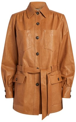 Frame Leather Safari Jacket