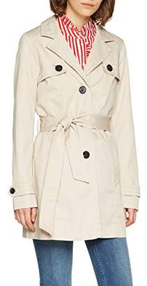 Vero Moda Women's Vmgo Abby 3/4 Trenchcoat Boos Coat, Off-White Oatmeal, 14 (Size: Large)