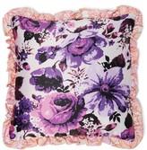 Richard Quinn Floral-print Satin Cushion - Womens - Purple Multi