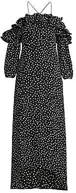 LIKELY Women's Rocky Off-The-Shoulder Polka Dot Midi Dress - Size 0